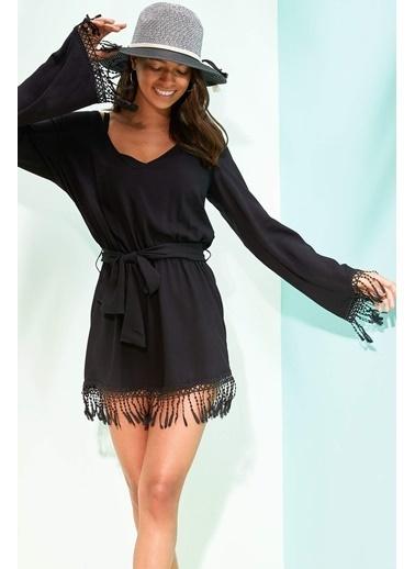 DeFacto Plaj Elbisesi Siyah